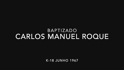 Baptizado do Carlos Manuel