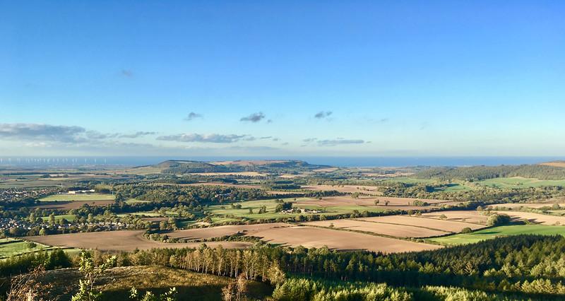 Pohľad z hrebeňa nad Guisborough