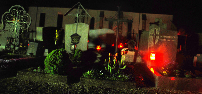 The family seemed a bit shocked that I would consider going to the graveyard in the dark, by myself, to take photos