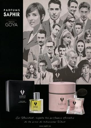 VELVET Affair - Lady VELVET by PARFUMS SAPHIR 2016 Spain (format Hola 24 x 33 cm) 'Patrocinador oficiales Premios Goya'