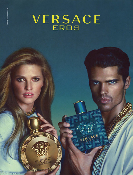 VERSACE Eros + Eros pour Femme 2016 United Arab Emirates  'The new fragrance for men and women'