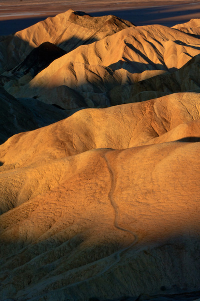 Sunrise over the valley. Death Valley National Park