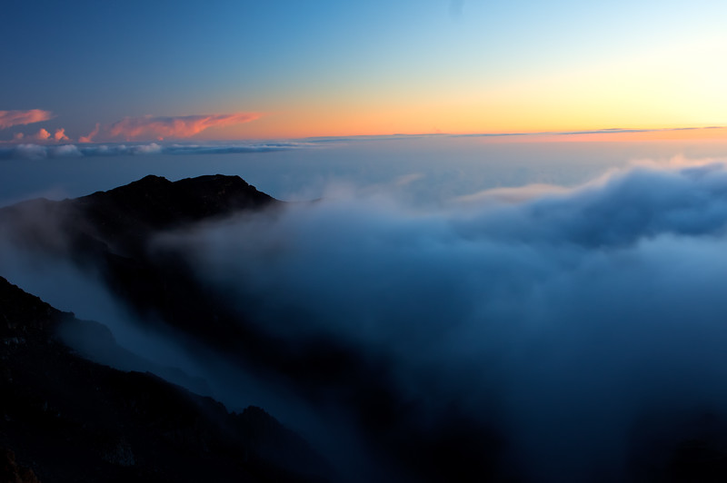 Sunrise over the Haleakala crater, Maui, Hawaii