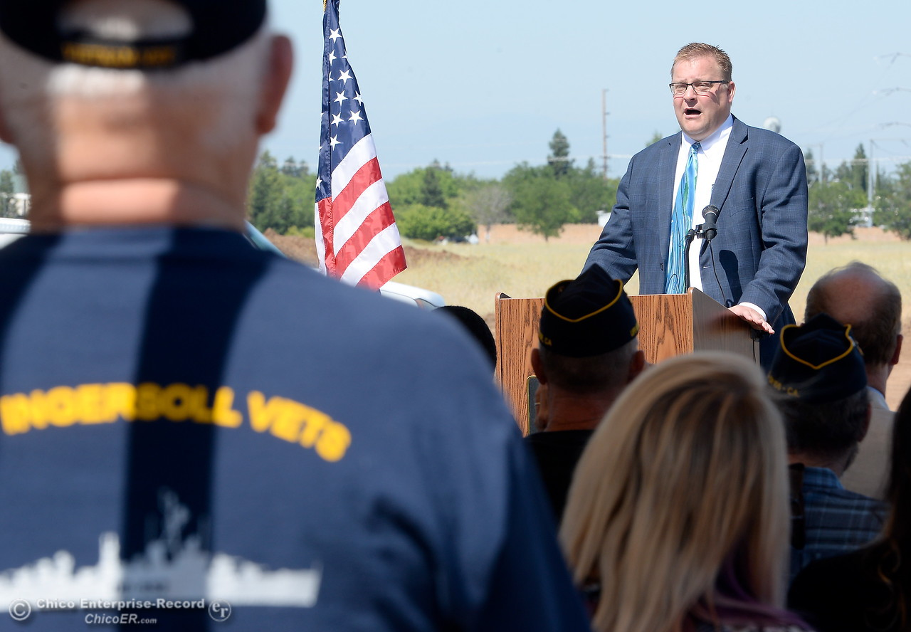 David Stockwell, Director of VA Northern California Health Care System speaks during a groundbreaking ceremony for the Chico VA Outpatient Clinic at 2000 Concord Ave. in Chico, Calif. Thursday June 29, 2017.  (Bill Husa -- Enterprise-Record)