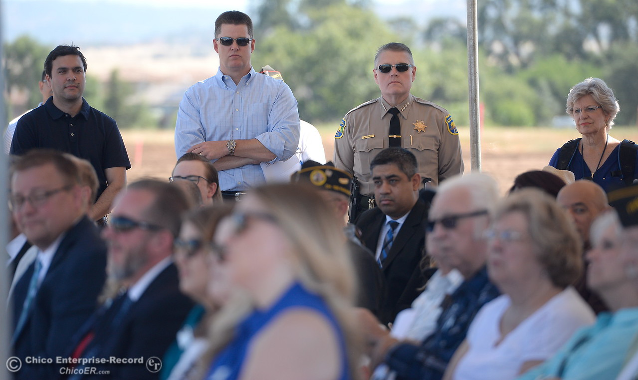 during a groundbreaking ceremony for the Chico VA Outpatient Clinic at 2000 Concord Ave. in Chico, Calif. Thursday June 29, 2017.  (Bill Husa -- Enterprise-Record)