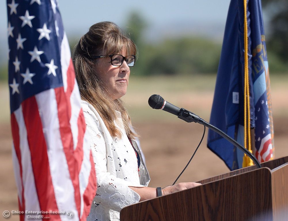 . Laura Page, District Representative for Congressman Doug LaMalfa speaks during a groundbreaking ceremony for the Chico VA Outpatient Clinic at 2000 Concord Ave. in Chico, Calif. Thursday June 29, 2017.  (Bill Husa -- Enterprise-Record)