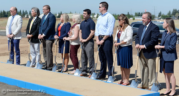 VIP's involved with the project take part in the ceremonial shoveling of dirt during a groundbreaking ceremony for the Chico VA Outpatient Clinic at 2000 Concord Ave. in Chico, Calif. Thursday June 29, 2017.  (Bill Husa -- Enterprise-Record)