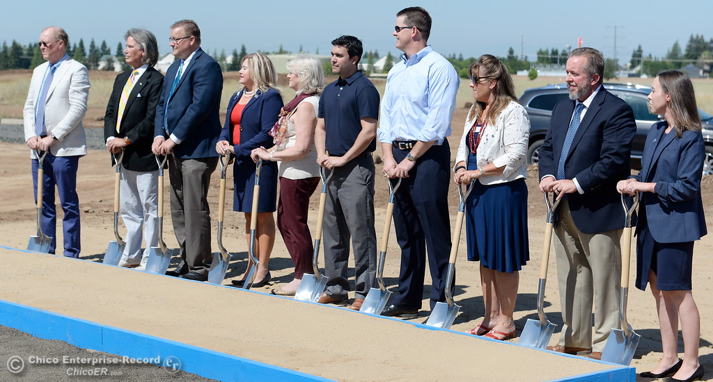 . VIP\'s involved with the project take part in the ceremonial shoveling of dirt during a groundbreaking ceremony for the Chico VA Outpatient Clinic at 2000 Concord Ave. in Chico, Calif. Thursday June 29, 2017.  (Bill Husa -- Enterprise-Record)