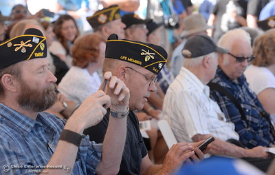 Many veterans are seen in the crowd to celebrate the groundbreaking ceremony for the Chico VA Outpatient Clinic at 2000 Concord Ave. in Chico, Calif. Thursday June 29, 2017.  (Bill Husa -- Enterprise-Record)