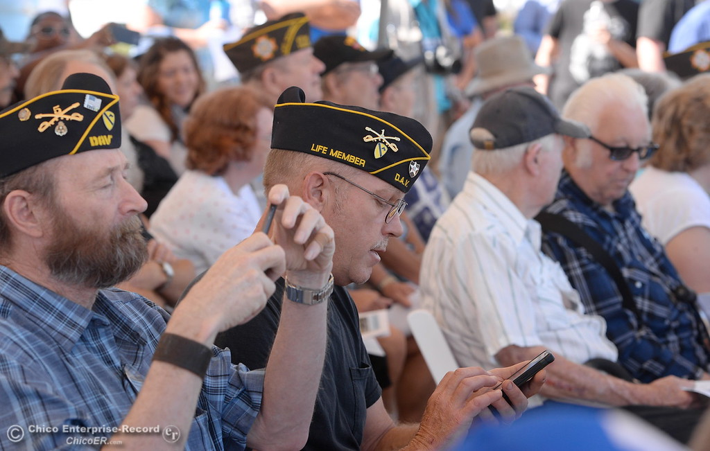 . Many veterans are seen in the crowd to celebrate the groundbreaking ceremony for the Chico VA Outpatient Clinic at 2000 Concord Ave. in Chico, Calif. Thursday June 29, 2017.  (Bill Husa -- Enterprise-Record)