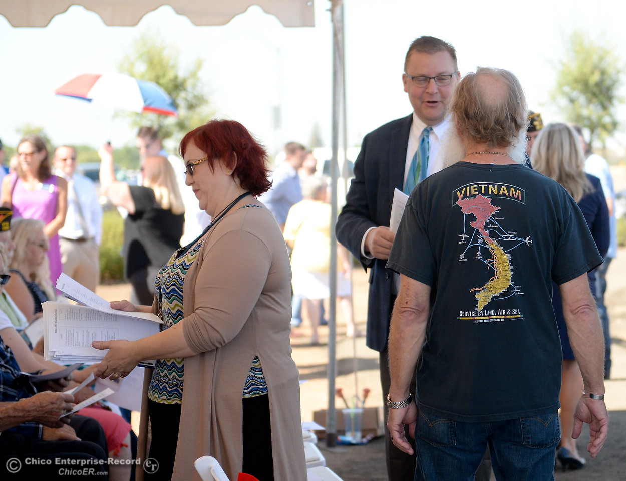 Many veterans are on hand to celebrate the groundbreaking ceremony for the Chico VA Outpatient Clinic at 2000 Concord Ave. in Chico, Calif. Thursday June 29, 2017.  (Bill Husa -- Enterprise-Record)