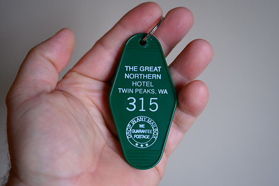 Agent Cooper's room at the Great Northern Hotel ;-)  From the gift shop at Salish Lodge.