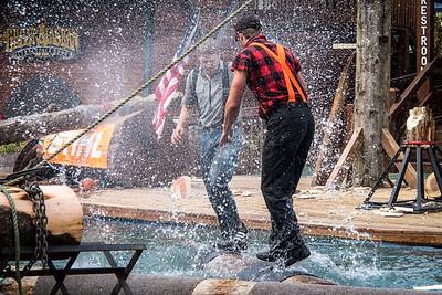 The lumberjack show