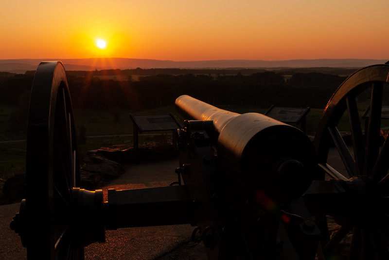 Cannon At Little Roundtop
