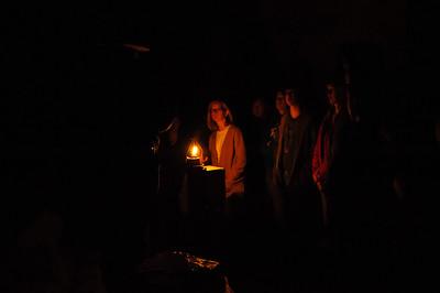 Lantern light talk by the park ranger