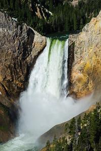 Roaring waterfalls of Yellowstone