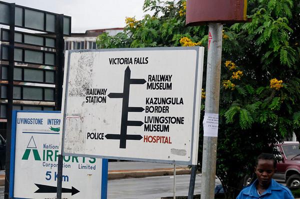 Livingstone street sign, Livingstone, Zambia