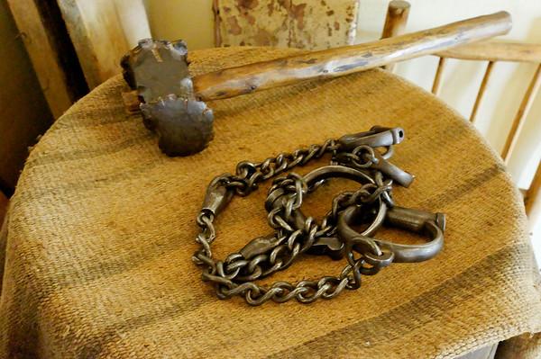 Slave chains, Stellenbosch Village Museum, S. Africa