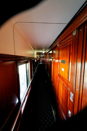 passageway outside rooms, Rovos Rail