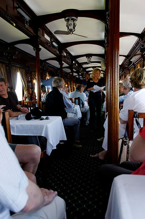 dining car, Rovos Rail, S. Africa
