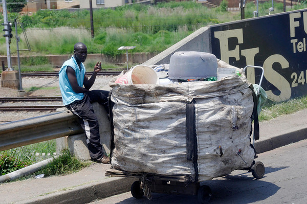 trash picker, bottom of the food chain, Soweto, S. Africa