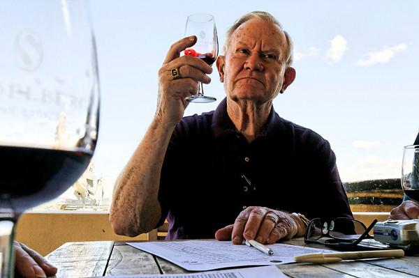 Earnie grades his wine, Seidelberg winery, S. Africa