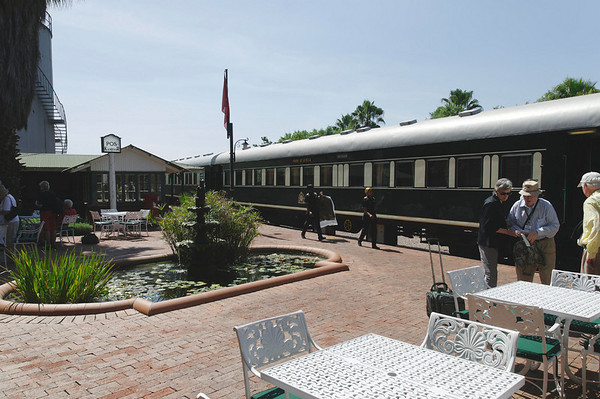 Rovos Rail station at Capital Park, Pretoria, S. Africa