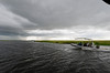 clouding over, Chobe river cruise, Botswana