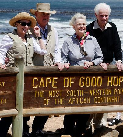 Mary, David, Peggy, Bob, Cape Point, S. Africa