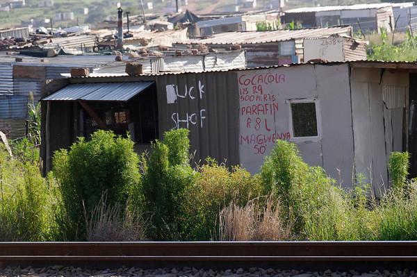 """""""informal settlements"""", Rovos Rail, S. Africa"""