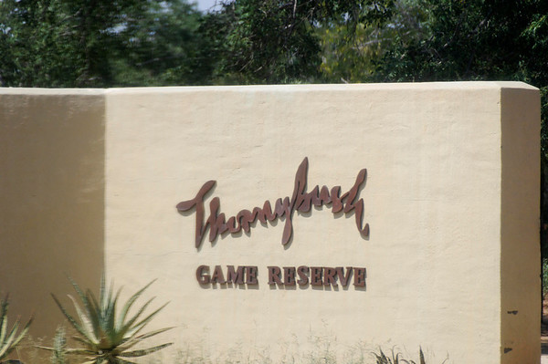Entrance, a private game reserve