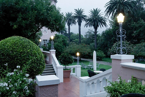 DAY 6:  early morning rain, Mount Nelson Hotel, Cape Town