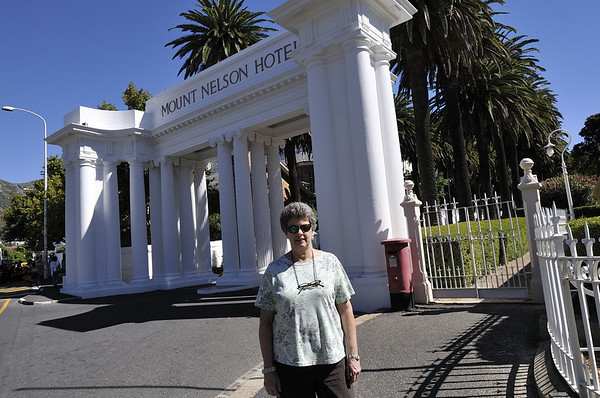 Entry to the Mount Nelson, Cape Town