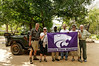 K-State flag at Thornybush, S. Africa, GPS appx