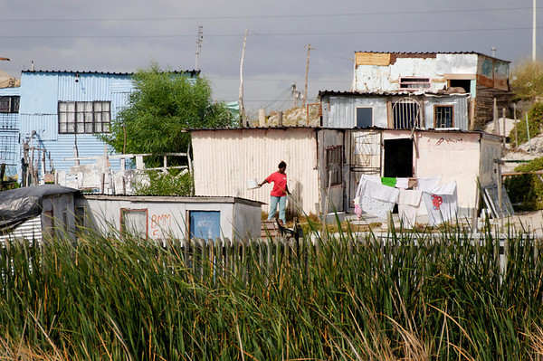 """informal settlements"" outside of Cape Town, South Africa"
