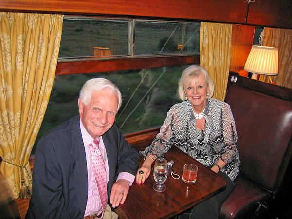 Bob (Mr. Roadrunner) and Peggy, Rovos Rail, SA