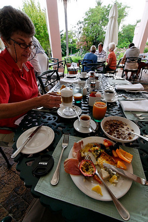 breakfast, Mount Nelson Hotel, Cape Town