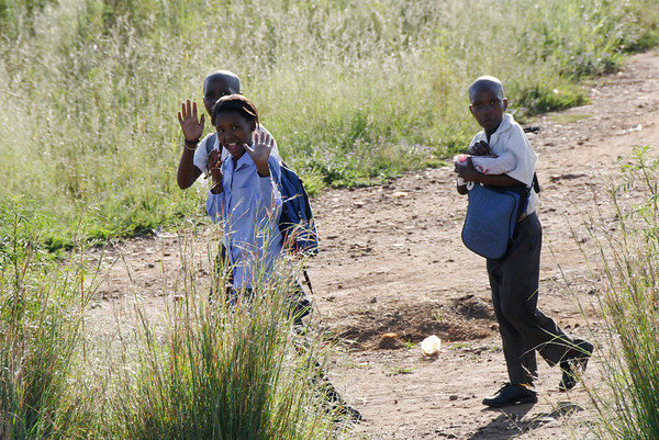 going to school, Rovos Rail, S. Africa