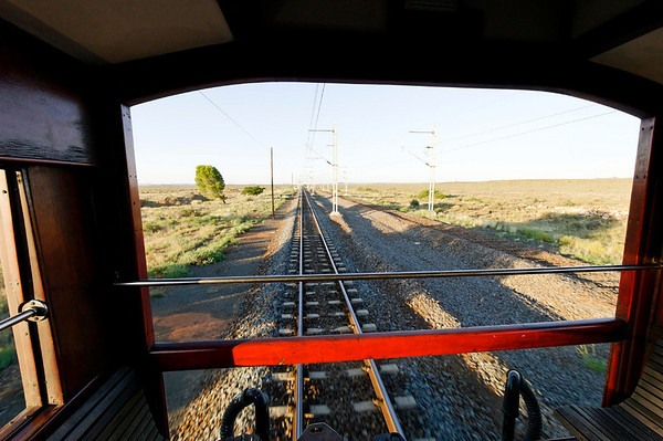 DAY 8:  the Karoo (dry outback), Rovos Rail, S. Africa