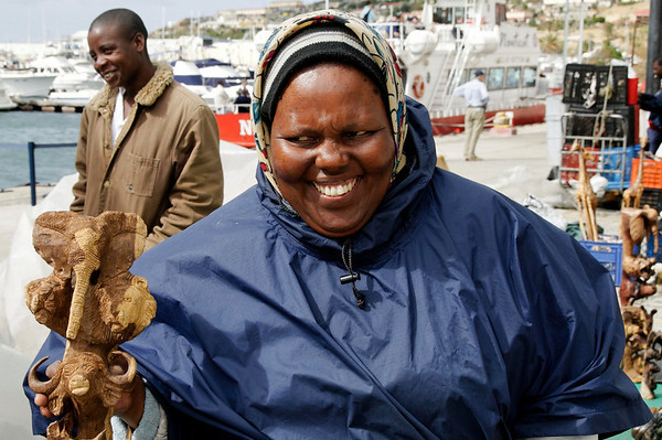 I think she's smiling because I overpaid, Hout Bay, S. Africa