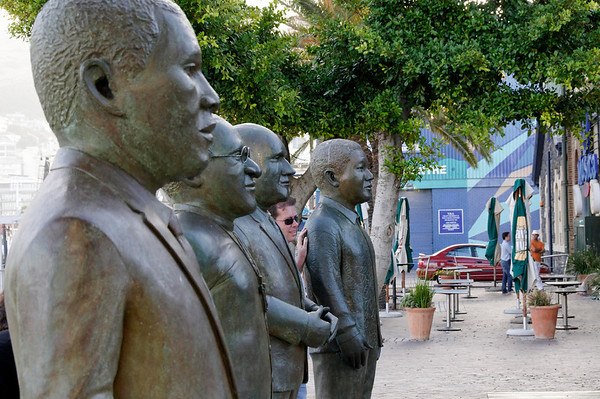 4 Nobels - Luthuli, Tutu, De Klerk, Mandela, Cape Town, S. Africa