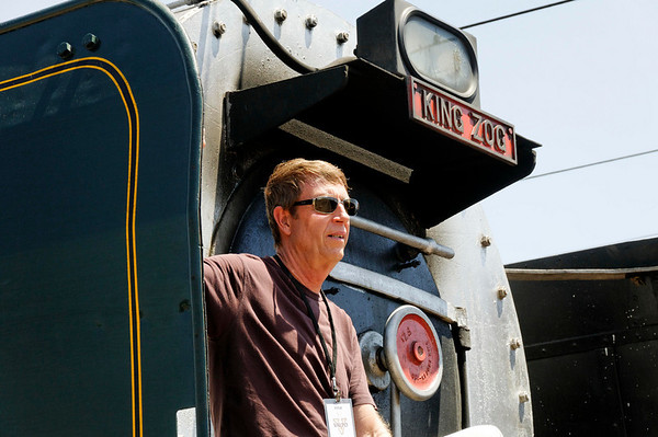 Steve, switching to the steam locomotive, Rovos Rail, S. Africa
