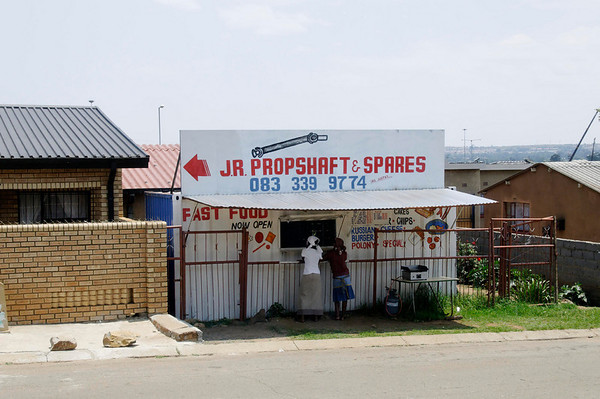 fast food, Soweto, S. Africa, GPS appx.