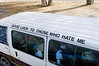 mini bus slogan, Cape Town, South Africa
