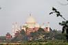 Taj Mahal from across the river, Agra