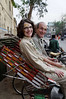 Sharon and Henri ready for a rickshaw ride to the Ganges, Varanasi