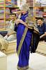 I think Sue likes it but will she buy it?, Tiwari International Silk Weaving Centre, King of Brocade, Varanasi