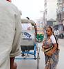 Red streak denotes a married woman, Varanasi