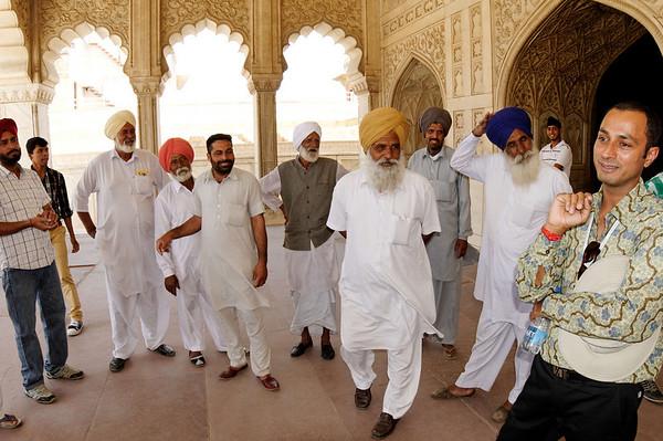 Girish and friends, Agra Fort