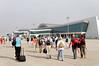 Sleek, modern Varanasi Airport, unlike Khajuraho